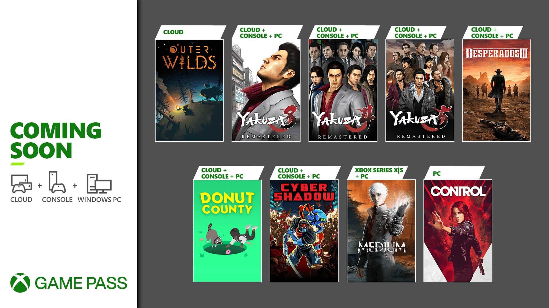 Xbox Game Pass Jan2021 of art